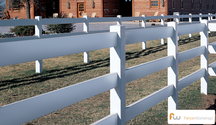 3 Rail vinyl post and rail fence installers