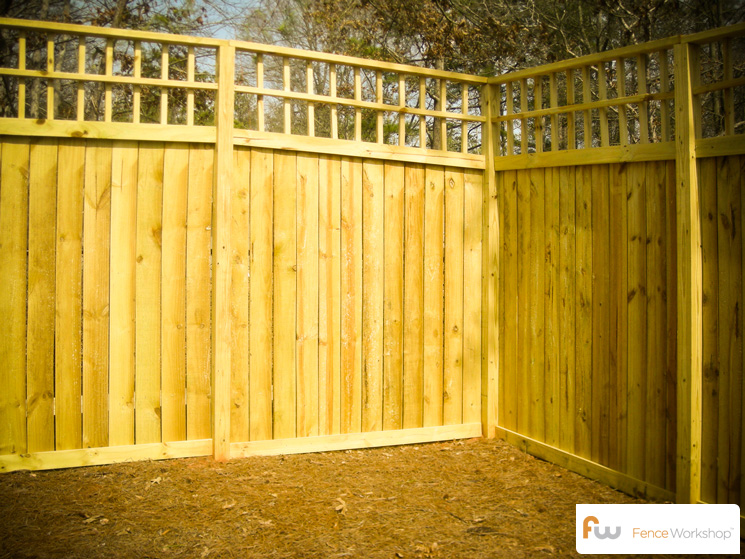 the clayton wood privacy fence