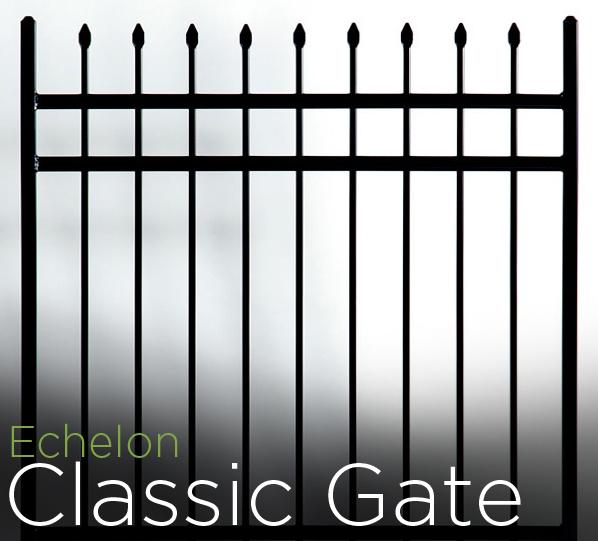 echelon aluminum classic walk gate
