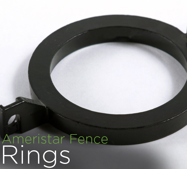 montage plus 3 rail steel fence accessories rings