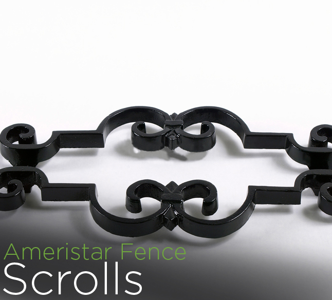 Montage II fence accessories scrolls