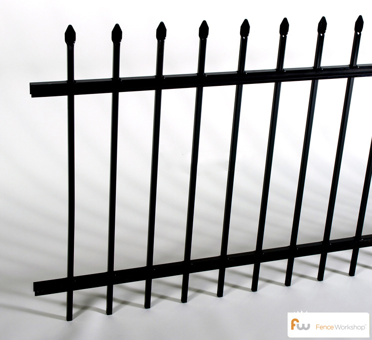 echelon 2 rail classic steel fences