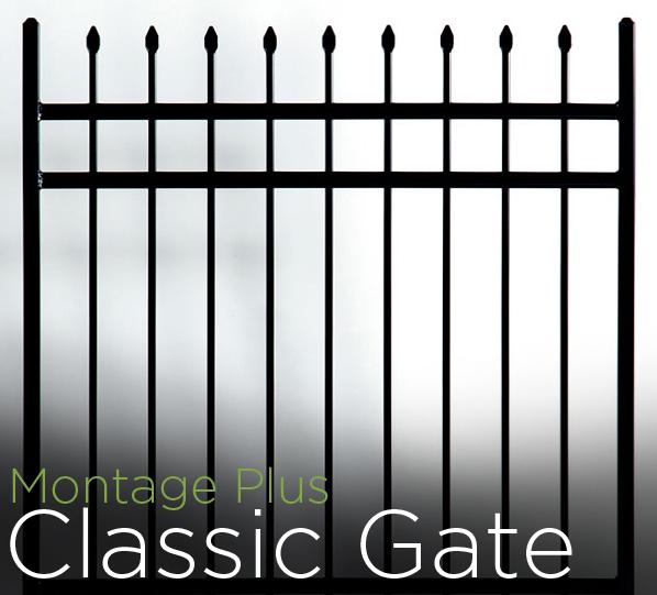 montage plus 3 rail classic style walk gate