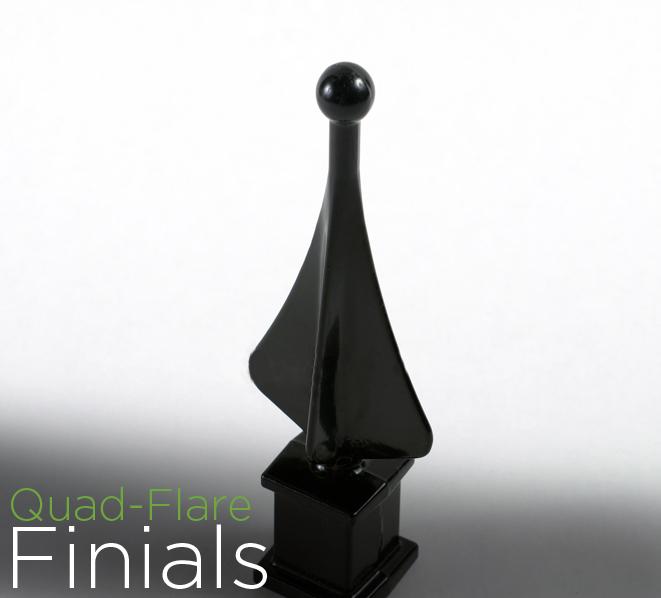 Quad-Flare Finials