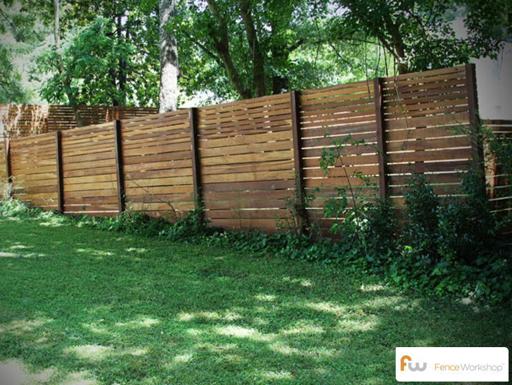 Low Horizontal Wood Fence Low Horizontal Wood Fence I Nongzico
