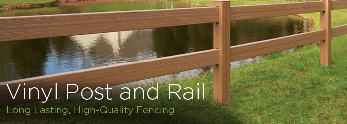 Vinyl post and rail fencing installation