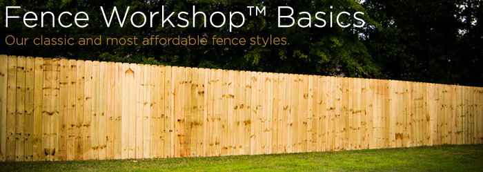 basic dogeared wood privacy fence