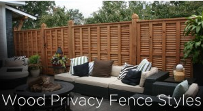 wood privacy fence styles