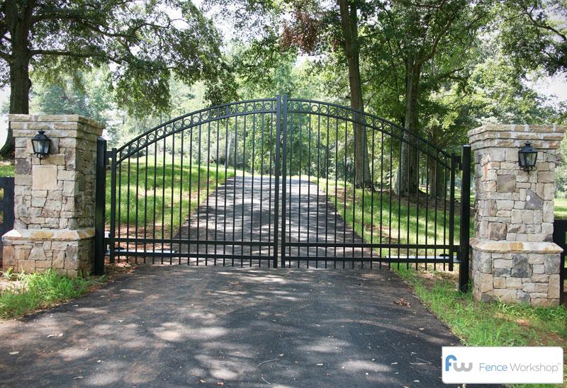 Driveway gates loganville ga fence workshop™