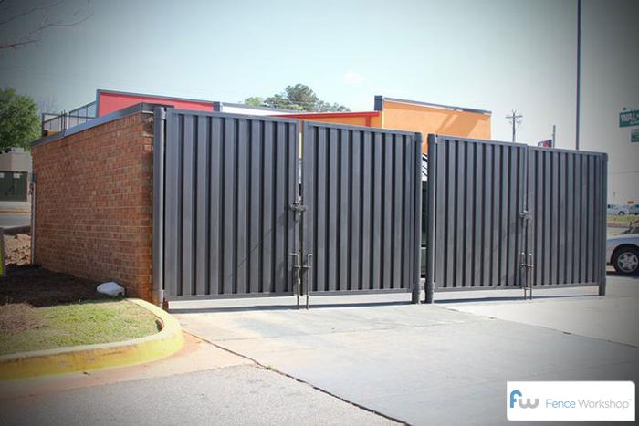 dumpster garbage enclosures gates atlanta