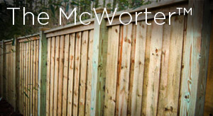 board on board style wood privacy fencing