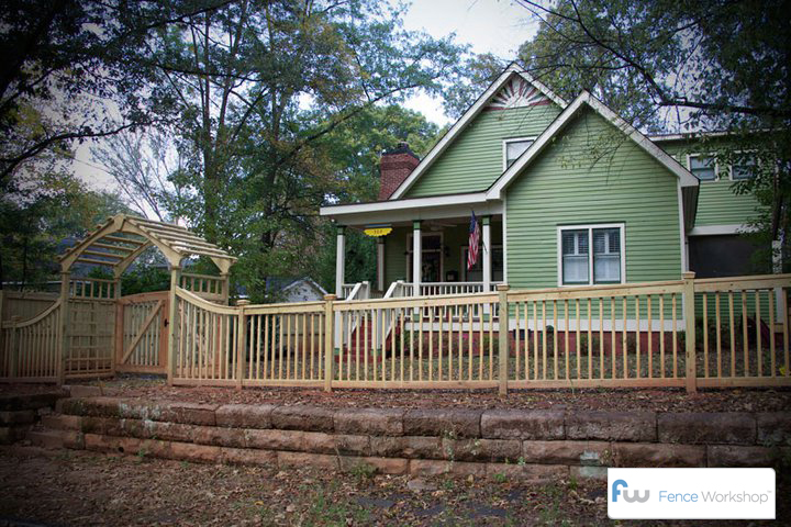 wood picket fences loganville ga