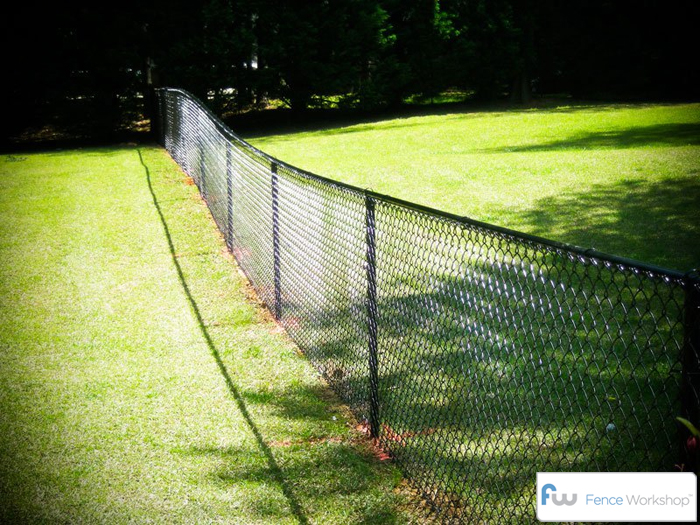 Black Chain Link Fence Atlanta