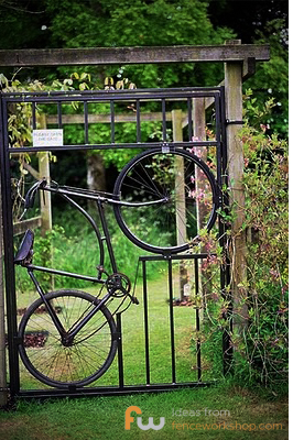 Bicycle Garden Gate Design Idea