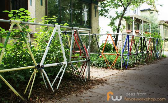 Bike Framed Fence