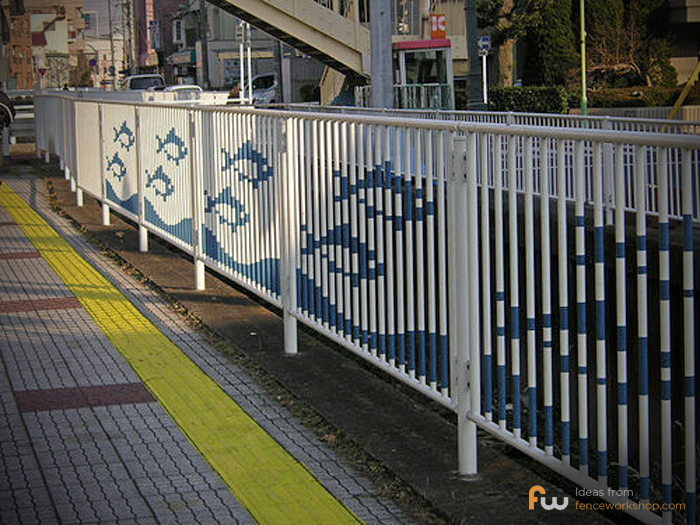 Fence painted with fish