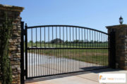 Metal driveway gate commercial residential