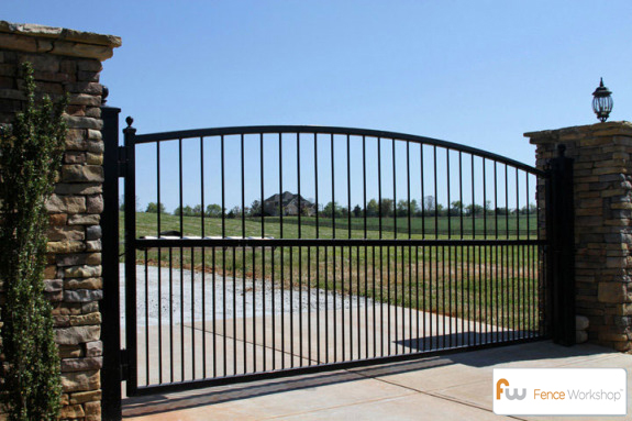 Gate options raleigh nc fence workshop for Aluminum driveway gates prices