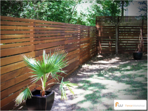 Modern Horizontal Board Fence