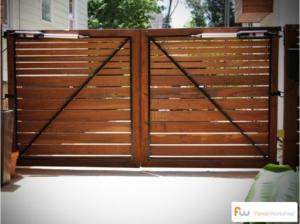 Custom Wood Driveway Gates