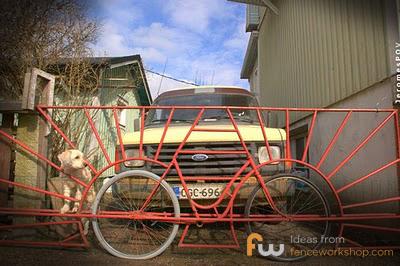 gate made of a bike