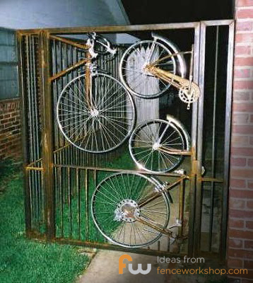 gate made of bikes