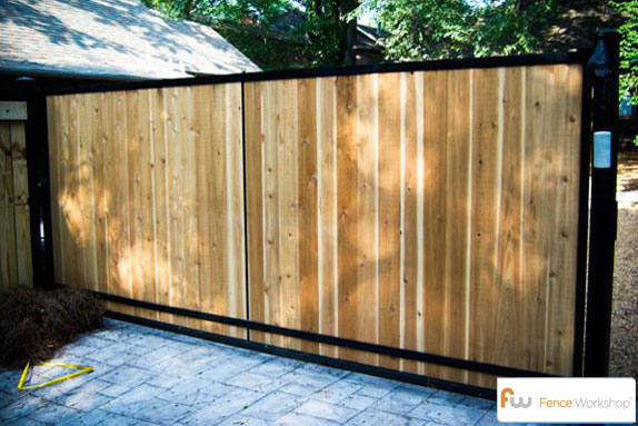 Custom wood driveway gates atlanta ga fence workshop custom wood driveway gates in atlanta ga solutioingenieria Image collections