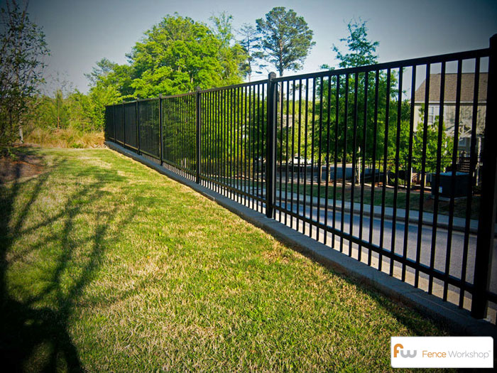 Single Rail Metal Fence