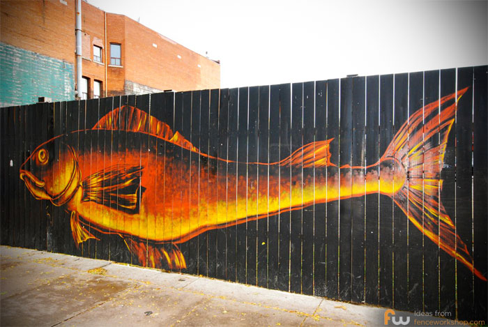 Fish Painted Fence