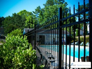 Metal pool fences