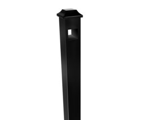 Black Aluminum Fence Post Rendering