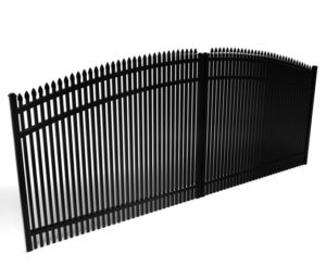Athens Spear Top Arched Driveway Gate