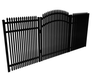 Athens Spear Top Double Picket Walk Gate