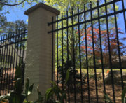 Atlanta Fence With Wall Mount