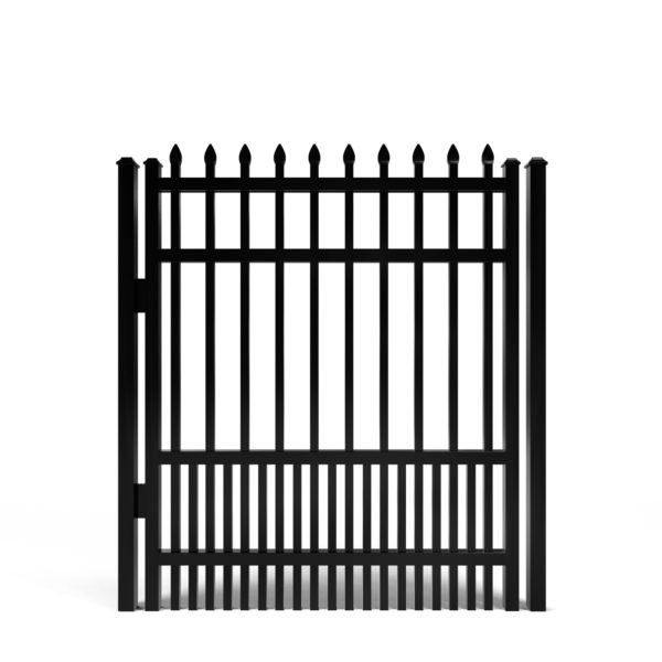 Avalon Spear Top with Puppy Picket Aluminum Walk Gate