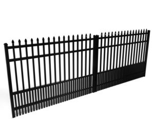 Avalon Spear Top Aluminum Driveway Gate For People With Dogs