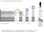 Avalon Aluminum Fence Panel Specs