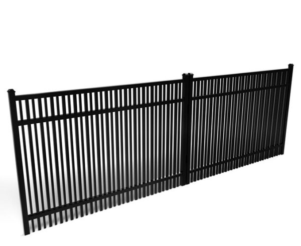 Buford Double Picket Smooth Top Driveway Gate