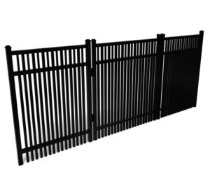 Buford Double Picket Smooth Top Walk Gate