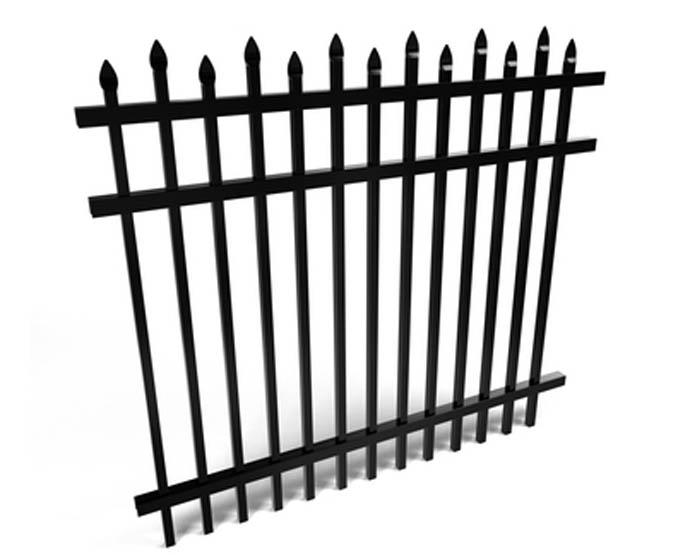 3 Rail Decorative Spear Top Aluminum Fence Panel Fence