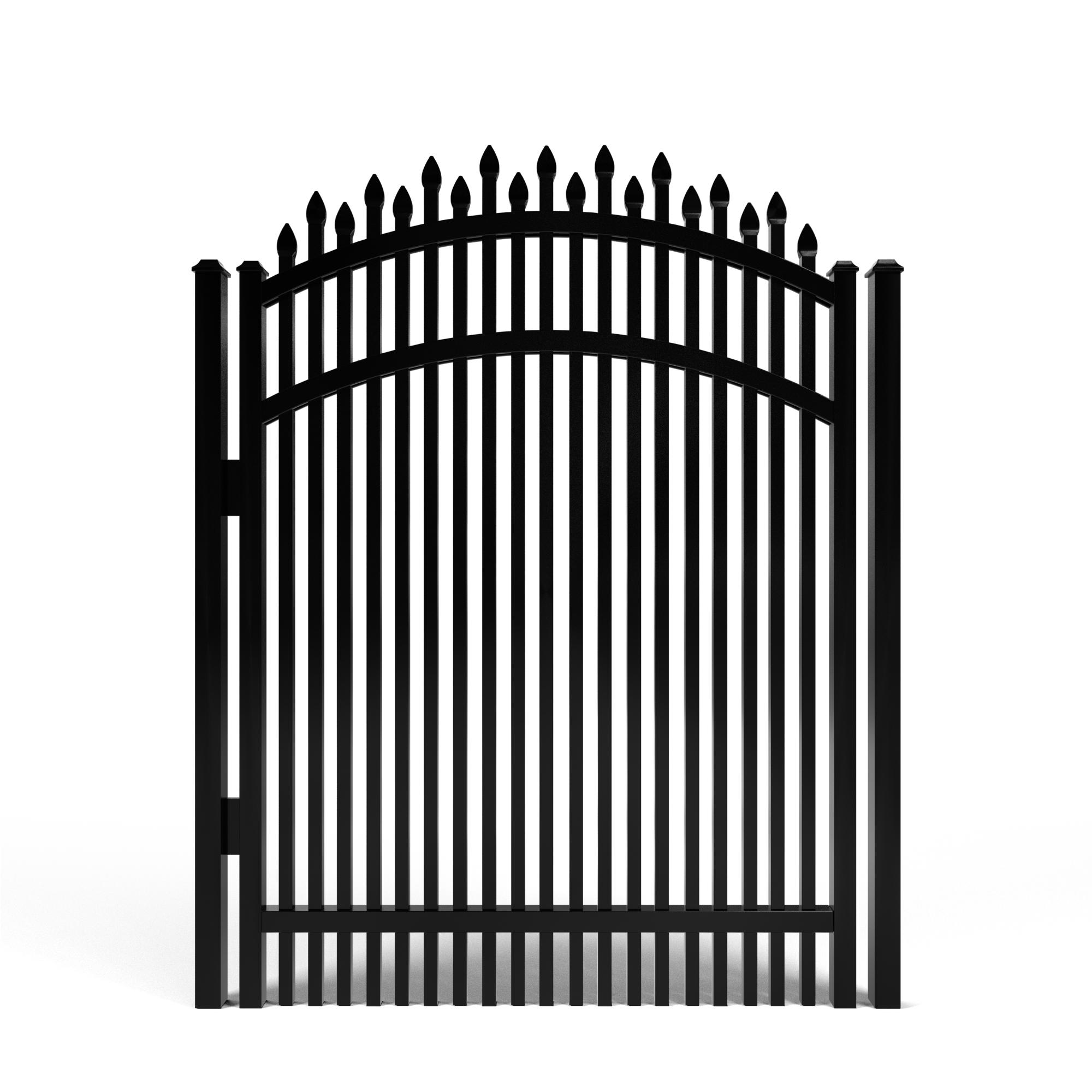 Dunwoody Alternating Spear Double-Spaced Aluminum Walk Gate