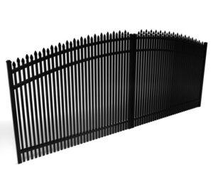 Dunwoody Double Picket Alternating Spear Driveway Gate