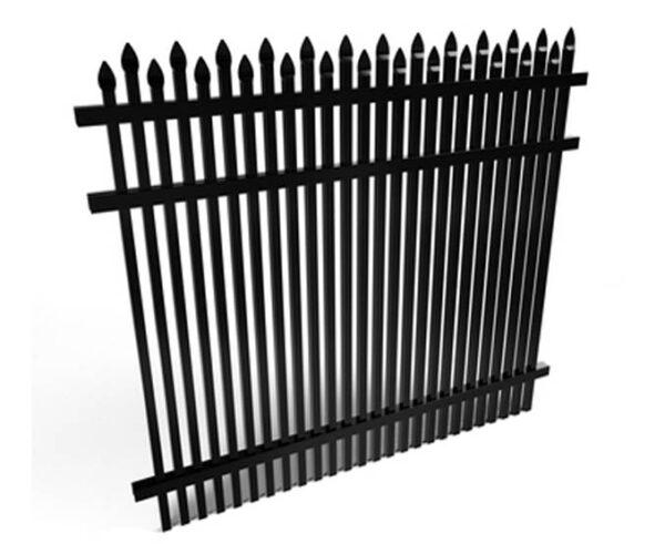 Dunwoody Fence Panel Black Aluminum