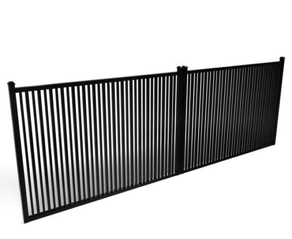 Sharpsburg Double Picket Metal Driveway Gate