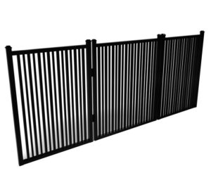 Sharpsburg Simple Double Picket Flat Top Walk Gate