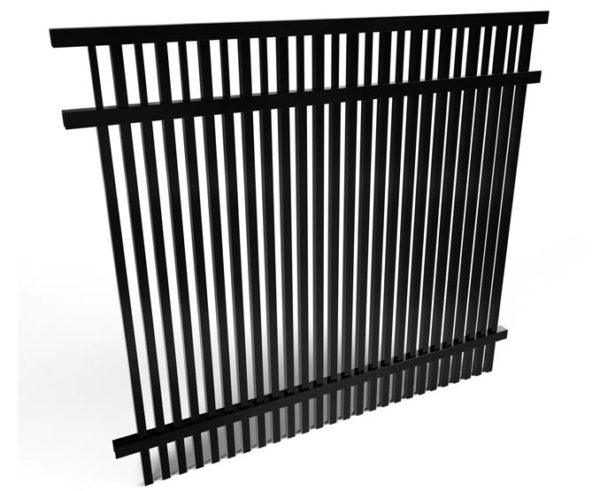 Buford Smooth Top Double Picket Aluminum Fence Panel