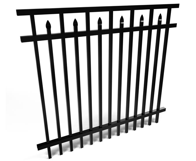 Candler Inset Spear Aluminum Fence Panel