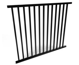 Savannah Smooth Top 2 Rail Metal Fence Panel