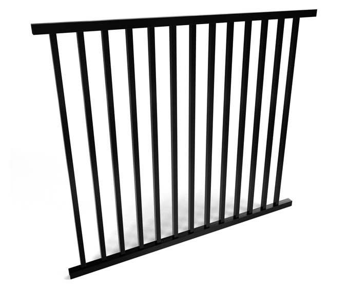 2 Rail Smooth Top Style Aluminum Walk Gate Kit | Fence Workshop