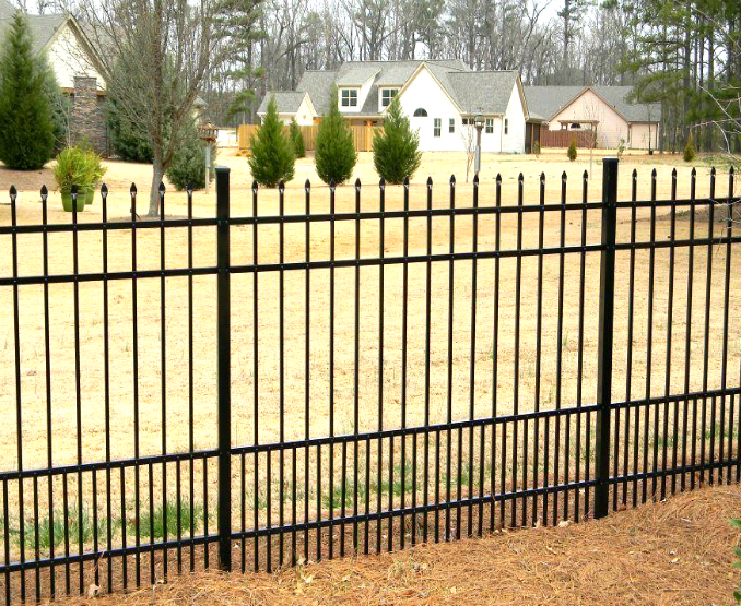 4 Rail Spear Top Puppy Picket Metal Fence Panel Fence